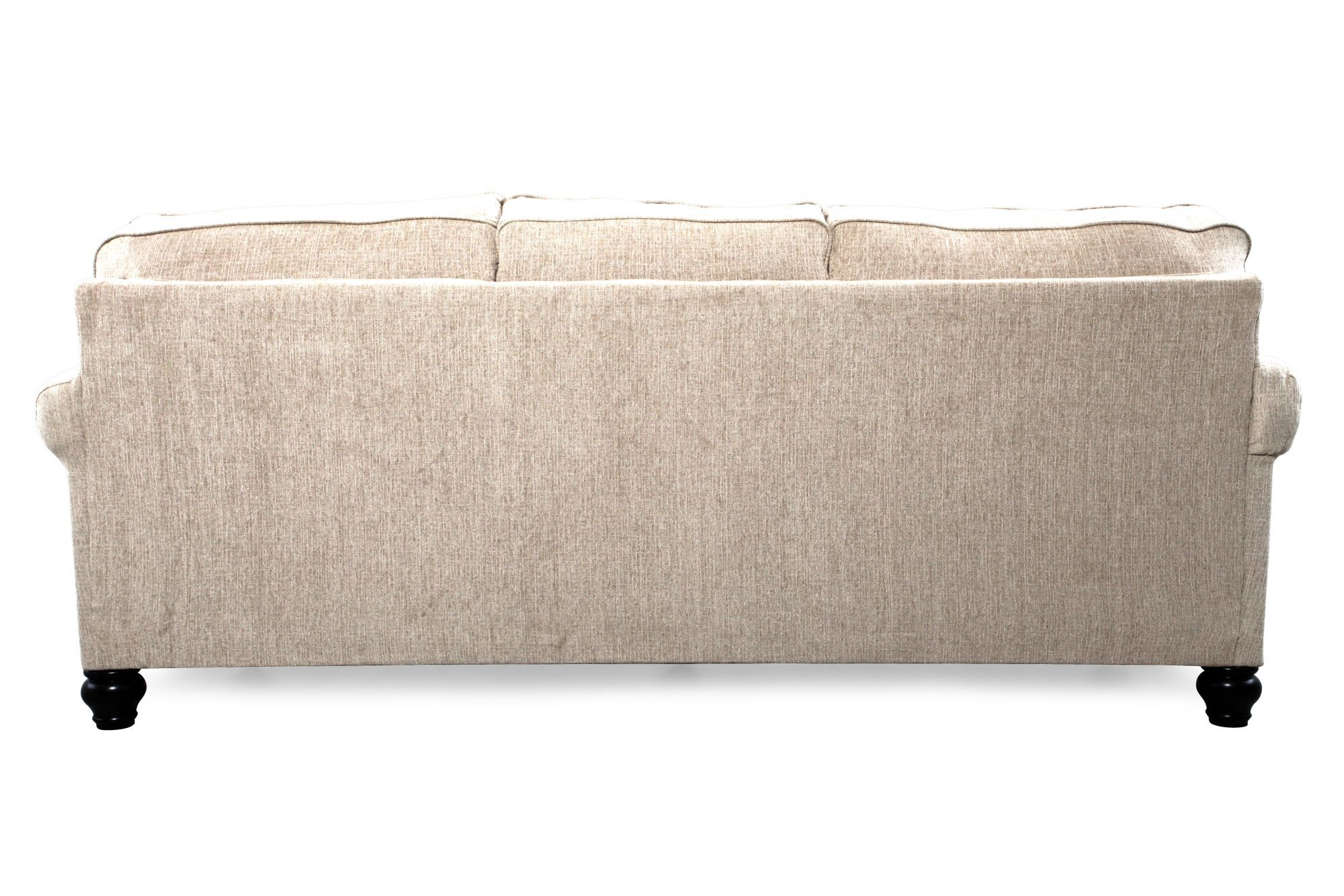 Casual Nailhead Accented 90u0026quot; Sofa In Linen