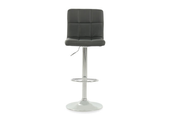 "Contemporary 45"" Adjustable Swivel Bar Stool in Black"
