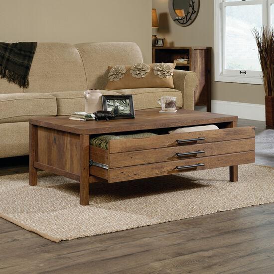 Rectangular Contemporary Coffee Tablein Vintage Oak