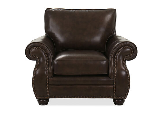 Contemporary Leather Chair in Walnut