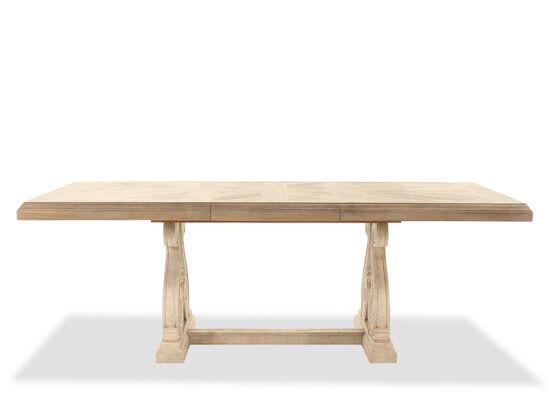 Traditional Rectangular Trestle Dining Table in Light Oak