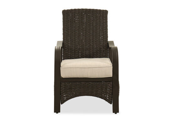 Contemporary Patio Arm Chair in Dark Brown