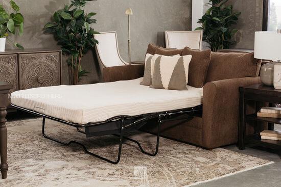 Casual Full Sleeper Sofa In Caramel