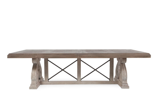 "Traditional 46"" X-Motif Dining Table in Light Oak"