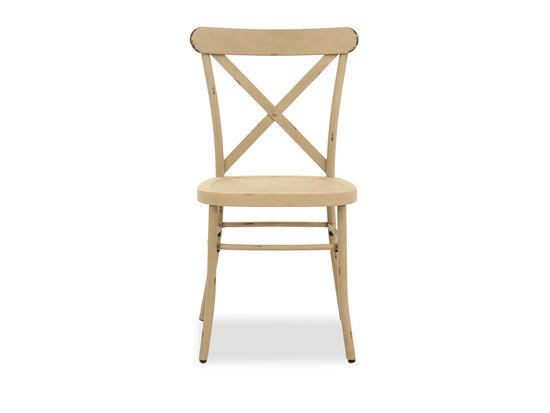 """35"""" Casual Side Chair in Antique White"""