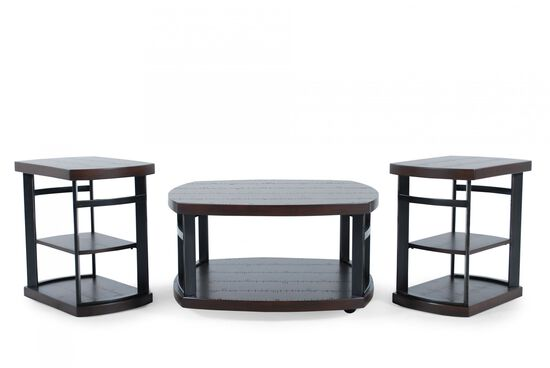 Three-Piece Casual Table Set in Brown