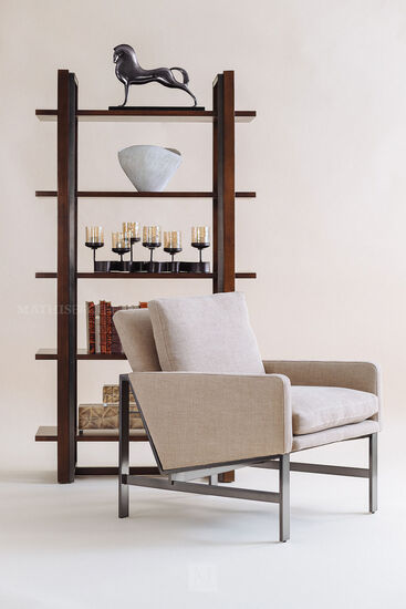Contemporary Accent Chair in Latte