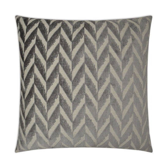 Charming Pillow in Charcoal Gray
