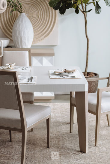 """Transitional 39"""" Side Chair in Beige"""