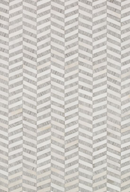 """Contemporary 5'-0""""x7'-6"""" Rug in Grey/Ivory"""