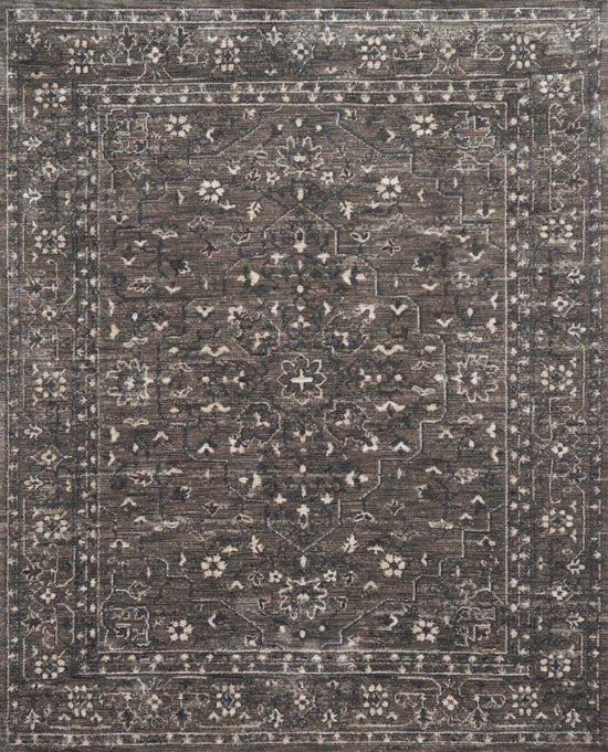 """Contemporary 7'-9""""x9'-9"""" Rug in Pewter/Pewter"""
