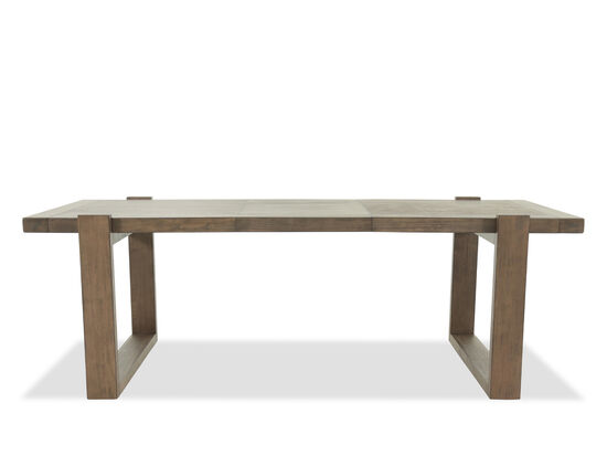 """Contemporary 40"""" to 66"""" Planked Rectangular Dining Table in Medium Brown"""