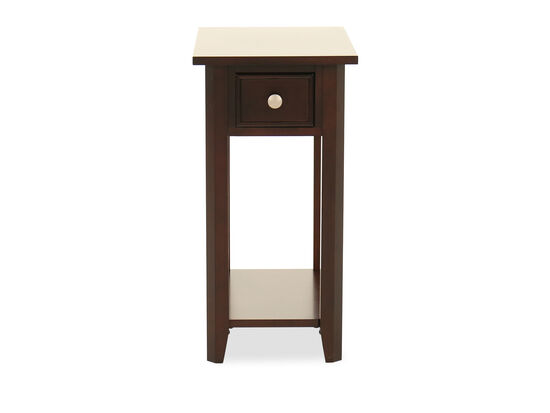 Transitional Paneled Chairside Table in Espresso