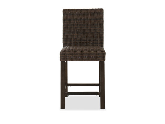 Contemporary Patio Barstool in Brown