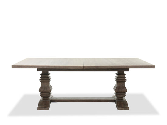"86"" to 122"" Traditional Pedestal Dining Table in Brown"