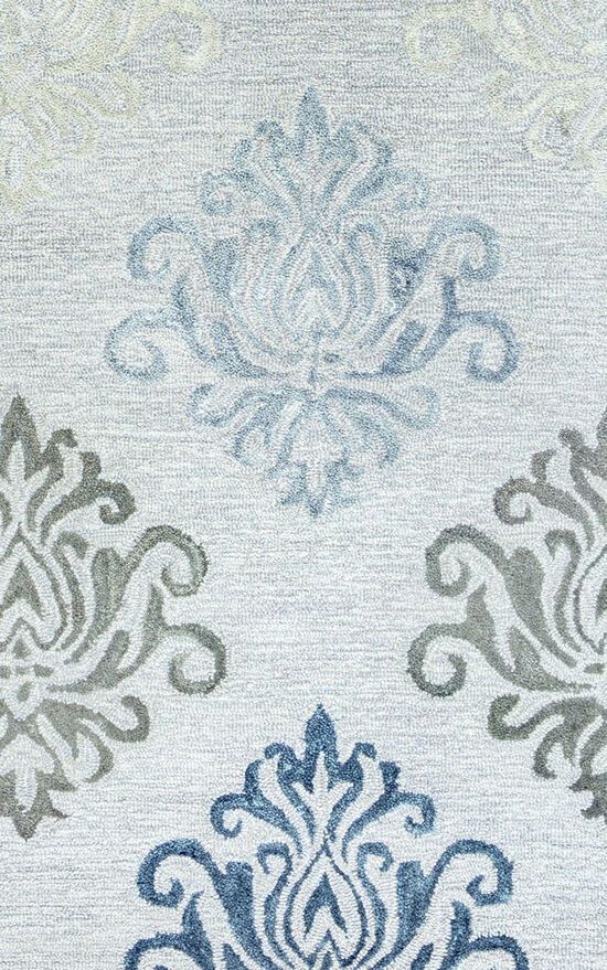 Transitional Hand-Tufted 5'  x  8' Rectangle Rug in Grey