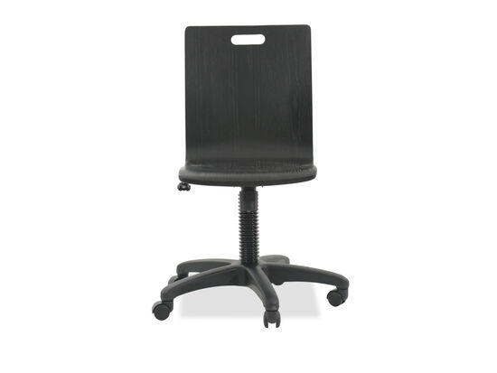 Transitional Swivel Youth Desk Chair in Graphite