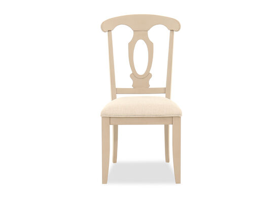 Cutout-Back Side Chair in Putty