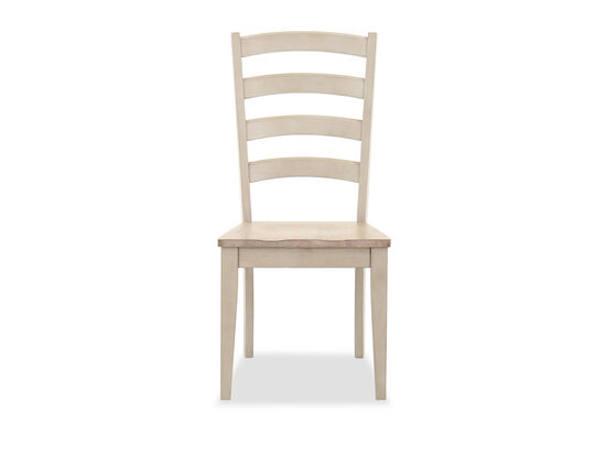 Traditional Ladder Back Chair in Oatmeal
