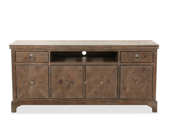 Traditional Entertainment Console in Brown