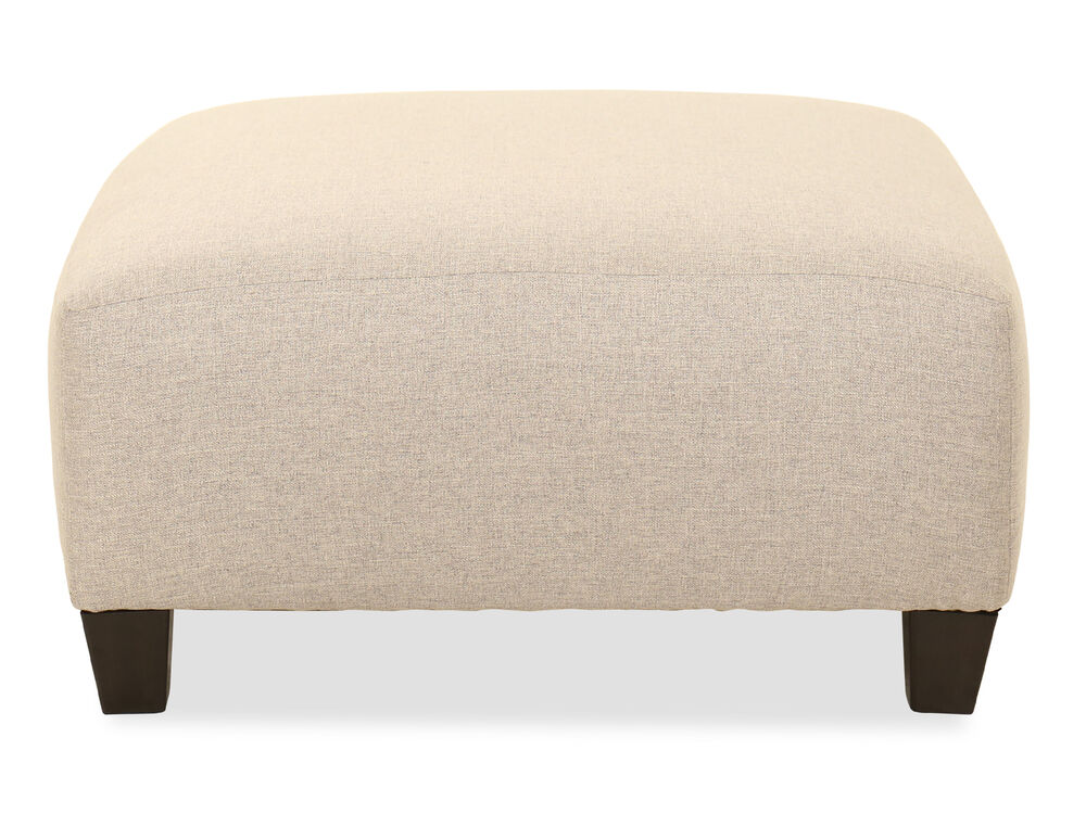 "Contemporary 40"" Oversized Ottoman in Fog"