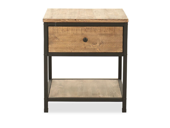 Square Country End Table in Oatmeal