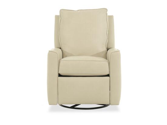 """Leather 30"""" Swivel Glider Reclinerin Cream"""