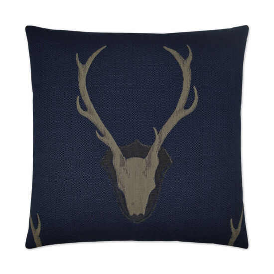 Uncle Buck Pillow in Navy Blue