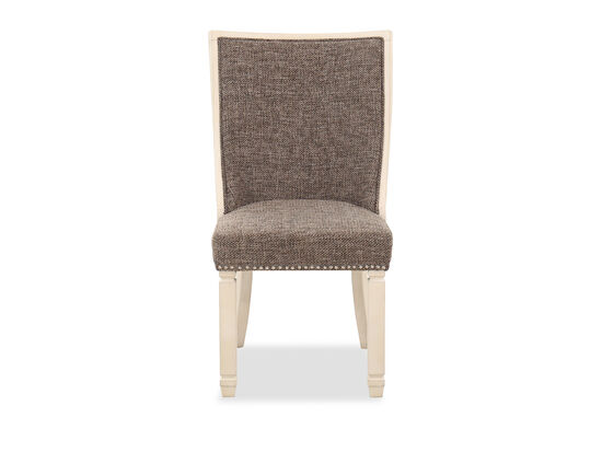 Nailhead-Trimmed Contemporary 41'' Host Chair in Antique White