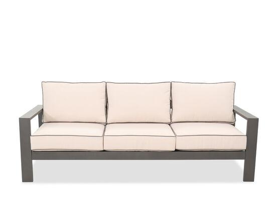 Casual Aluminum Patio Sofa in Gray