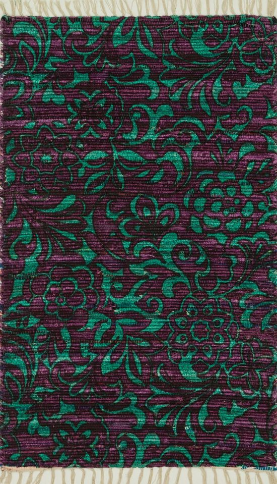 """Transitional 3'-6""""x5'-6"""" Rug in Purple/Turquoise"""