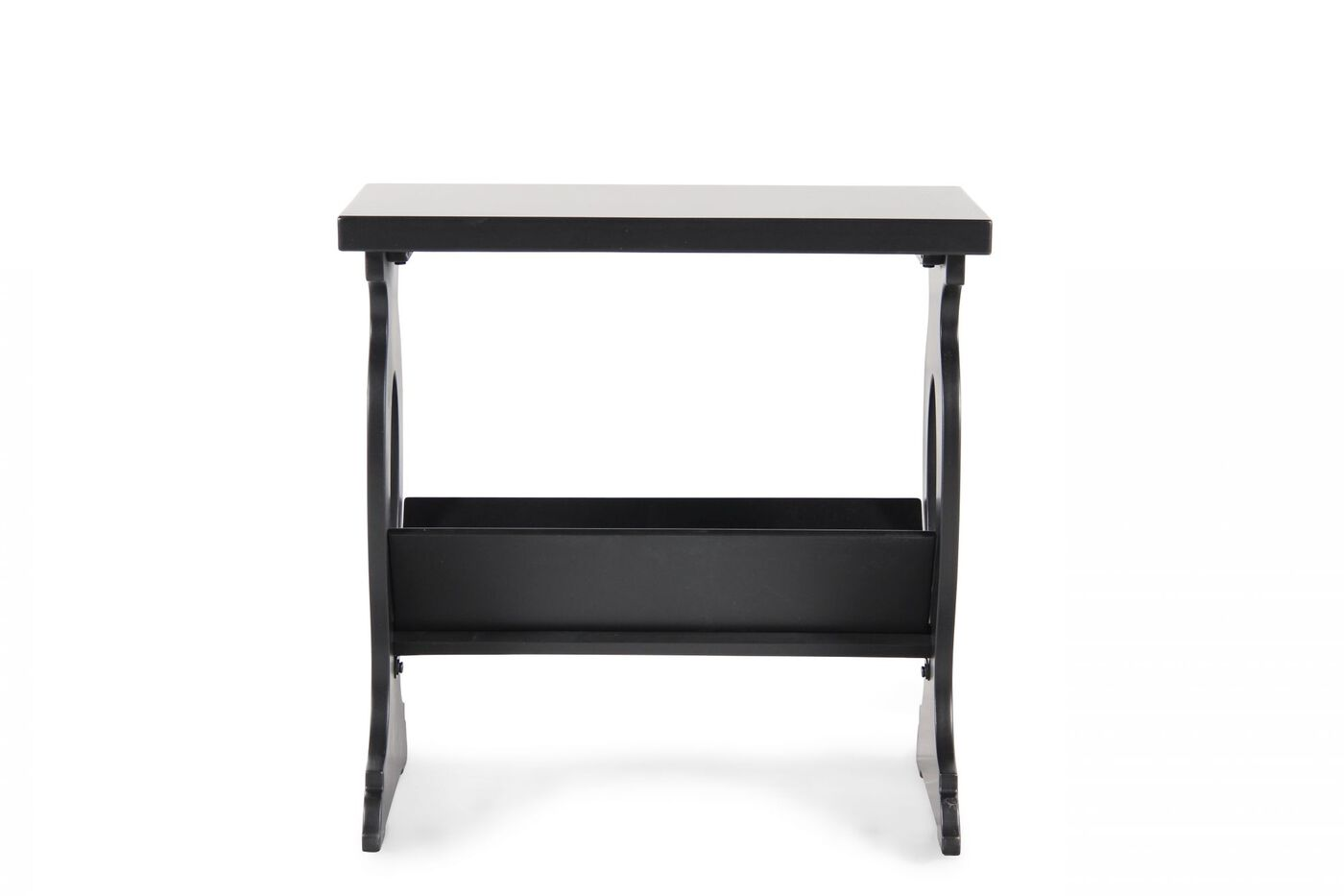 Square Contemporay Chairside End Table In Black