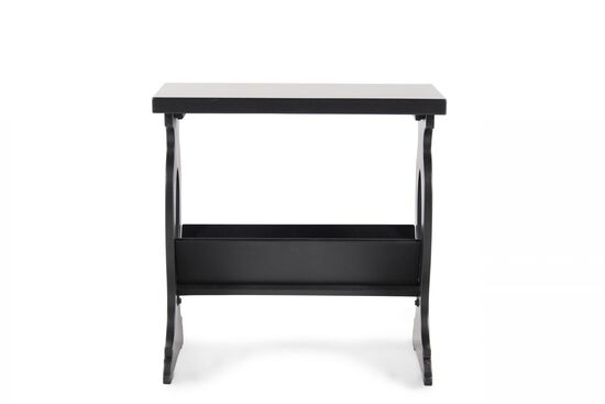 Square Contemporay Chairside End Tablein Black