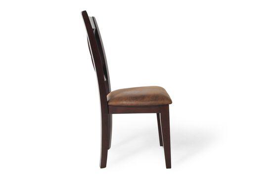 Two-Piece X-Back 40'' Side Chair Set in Dark Espresso