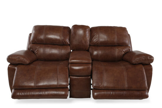 "Power Reclining Contemporary 81"" Loveseat in Tumbleweed"