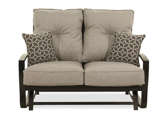 Aluminum Glider Loveseat in Gray