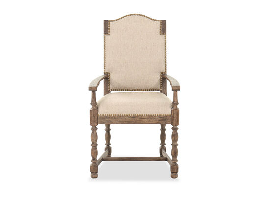 """21"""" Traditional Arm Chair in Beige"""