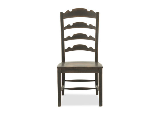 "Ladder Back 45"" Side Chair in Brown"