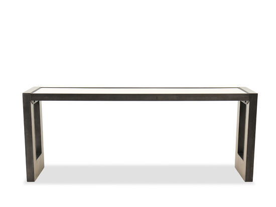 Transitional Rectangular Console Table in Light Wood