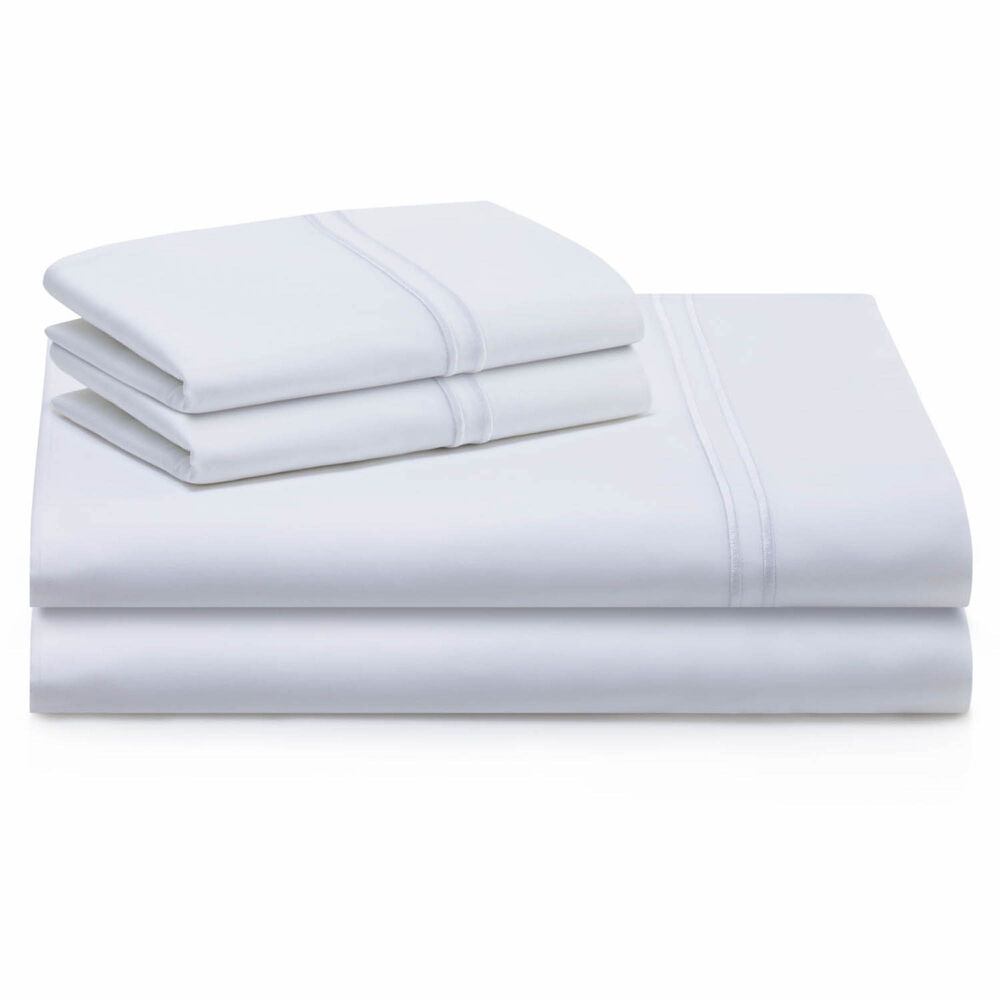 Malouf Supima Cotton Sheet Set in White