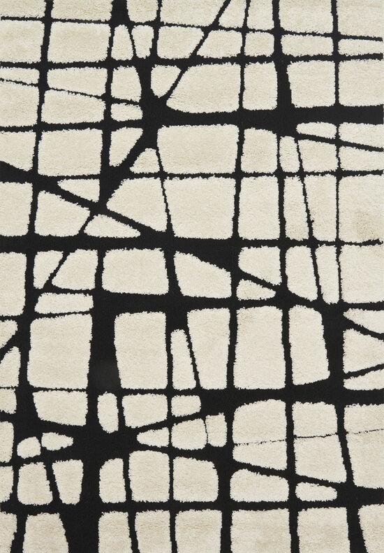 Loloi Power Loomed 5'3''x7'7'' Rug in White/Black