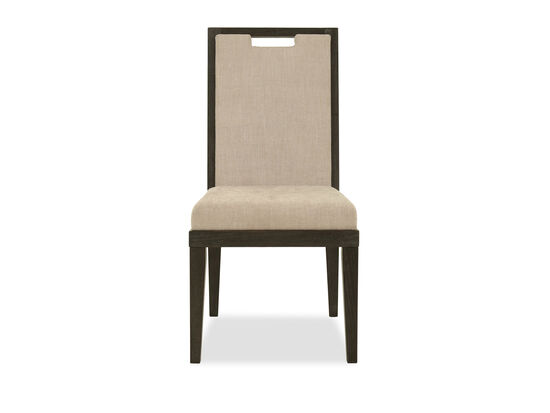 Cutout Back 40'' Side Chair in Cerused Mink