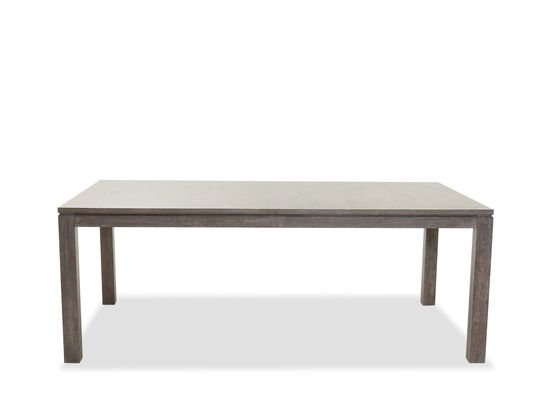 "Contemporary Rectangular 80"" to 100"" Dining Table in Cerused Gray"