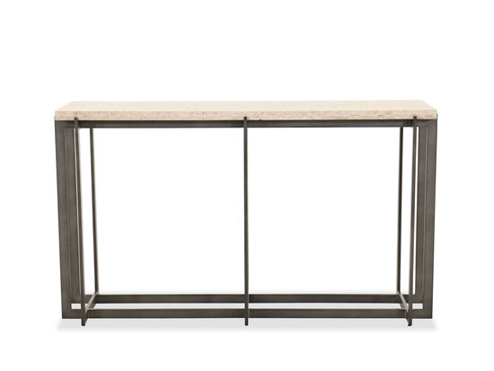 Transitional Rectangular Console Table in Bronze