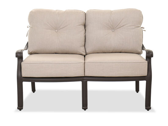Traditional Patio Loveseat in Brown