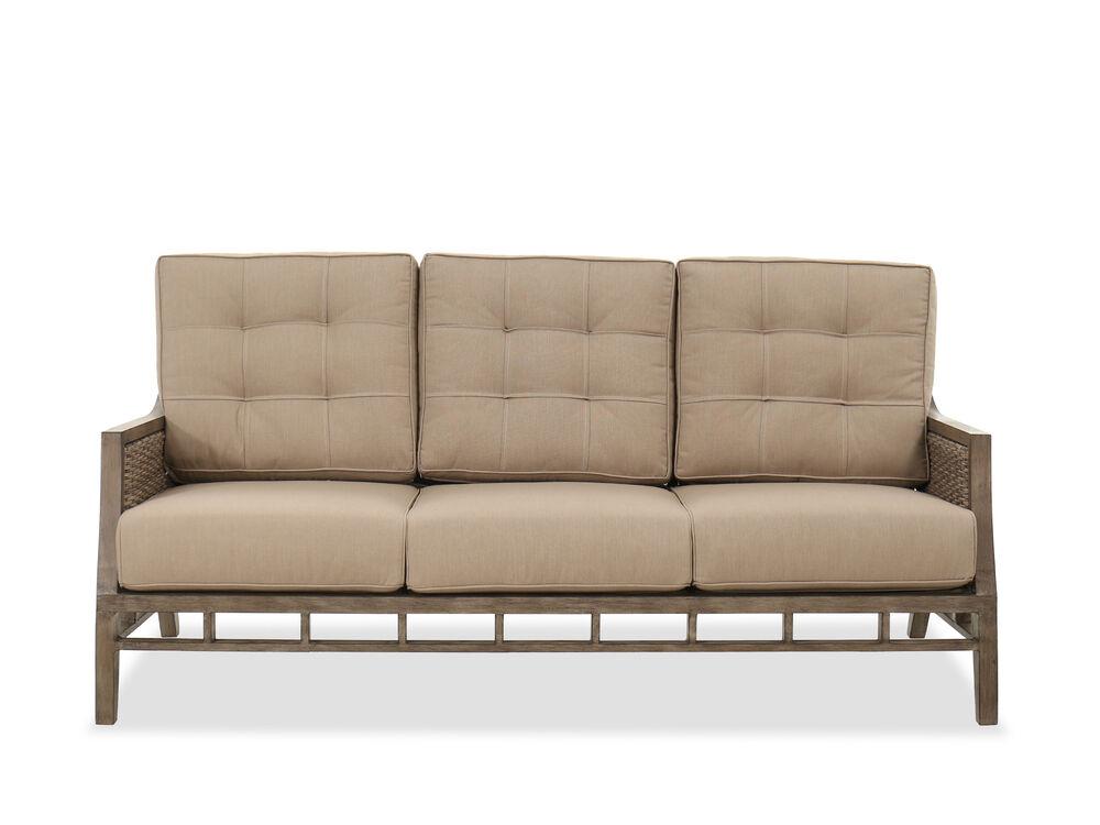 Casual Aluminum Sofa in Brown