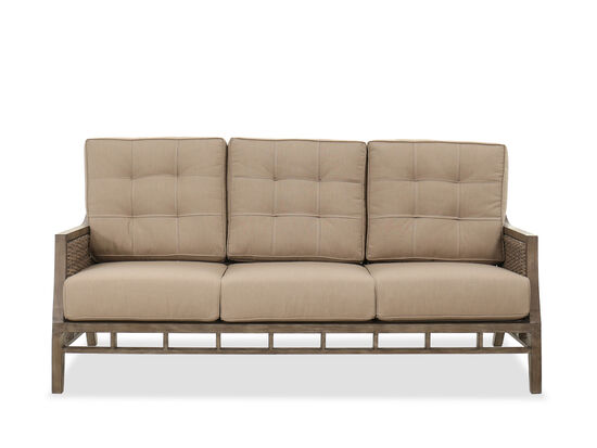 Casual Aluminum Sofa in Brown