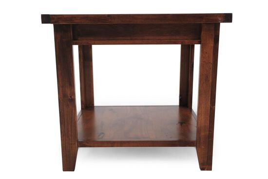 Rectangular Casual End Table in Medium Brown