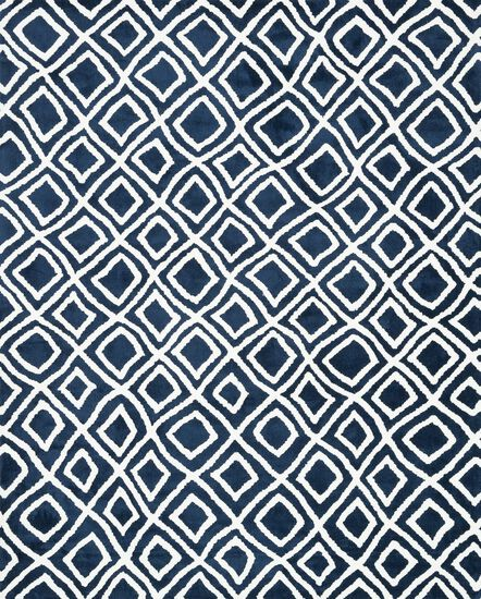 "Transitional 2'-3""x3'-9"" Rug in Navy"