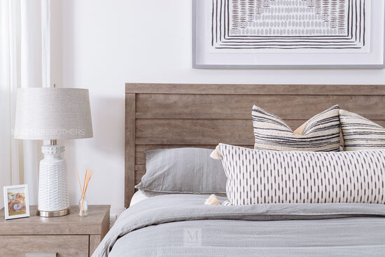 Four-Piece Casual Bedroom Suite in Warm Gray
